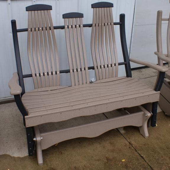 Bent Poly Double Porch Glider
