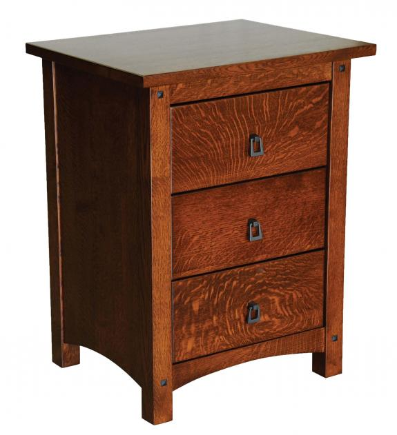 Emory Grand Bedroom Collection 3 Drawer Nightstand