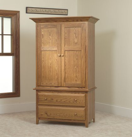 English Shaker Bedroom Set MB1141 Armoire