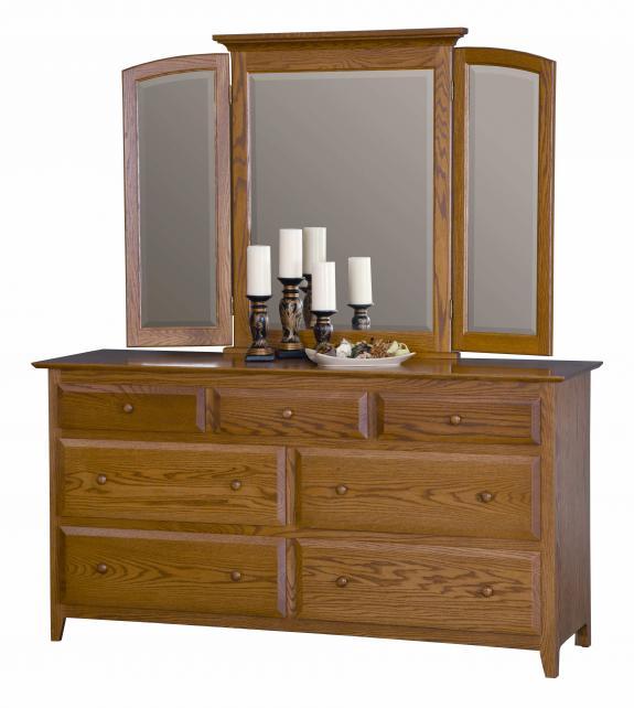 """English Shaker Bedroom Set MB1121 66"""" Dresser"""