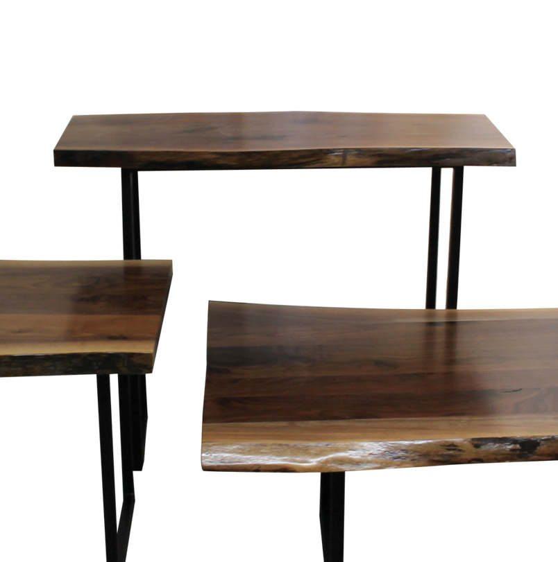 Live Edge Walnut Occasional Tables 318 Walnut Console