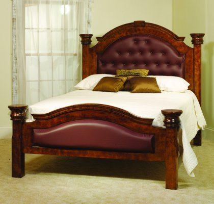 Empress Bedroom Furniture Burgundy Leather Bed