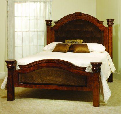Empress Bedroom Furniture Walnut Fabric Bed
