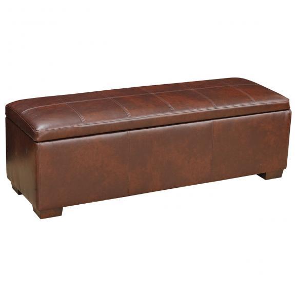 Europa Leather Storage Bench