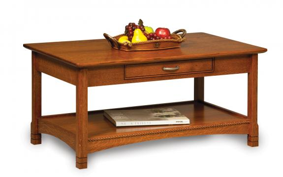 West Lake Open Occasional Tables FVCT-WL Coffee Table with Drawer