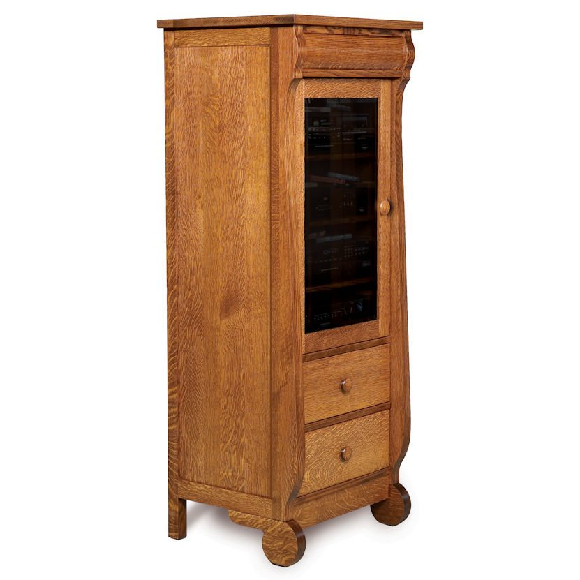 FVE-027-OCS Sleigh Stereo Component Cabinet