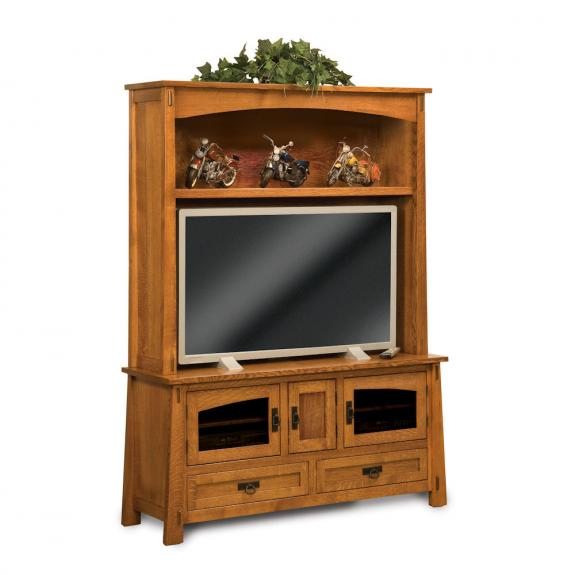FVE-032-MD Tall Wood Modesto TV Cabinet