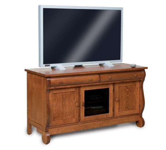 FVE-043-OCS-BP Classic Sleigh TV Stand