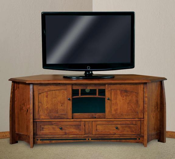 FVE-053-BC-BP Boulder Creek Corner TV Stand