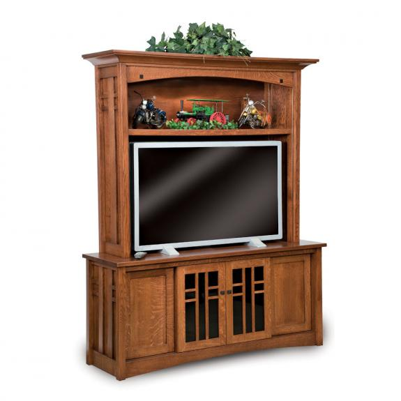 FVE-060 Oak Kascade TV Tall Cabinet