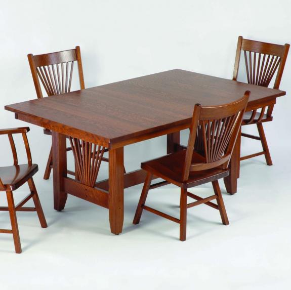 40 Mission Fantail Dining Collection 40 Mission Fantail Trestle Table