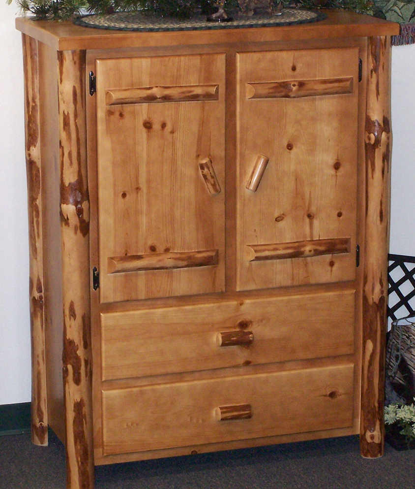 2 Drawer Rustic Armoire