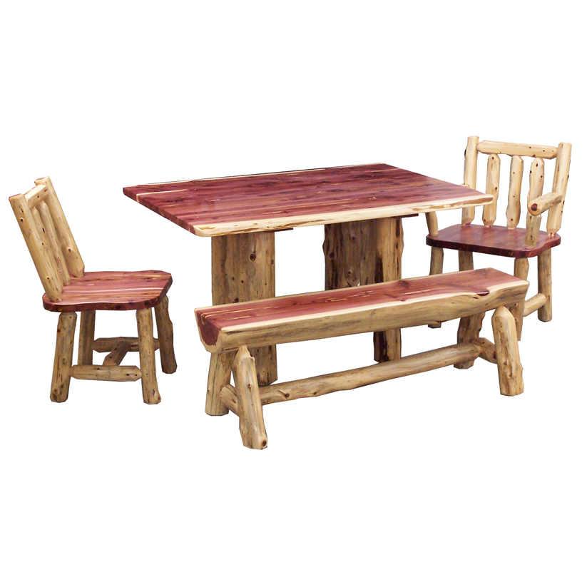 Cedar Leaf Rustic Dining Table