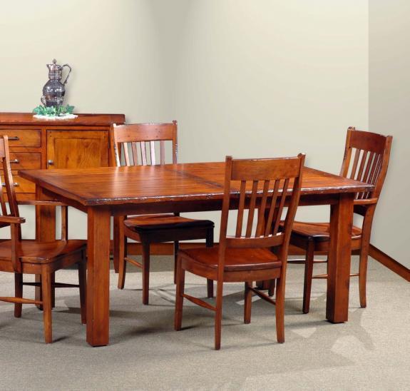 Breadboard End (78) Dining Table Set 78 Breadboard End Leg Table