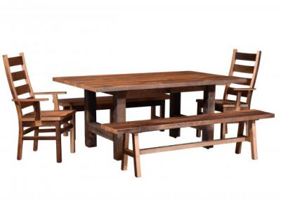 Gove-Dining-Table-and-Ladderback-Chairs