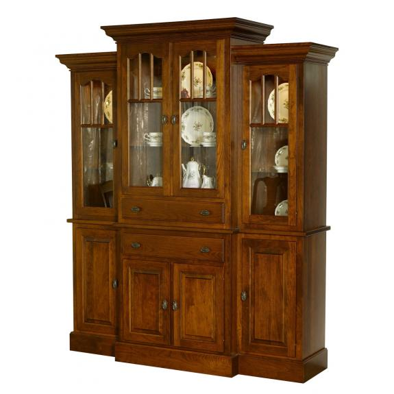 Double Pedestal Traditional Dining Set Grand Wilea Dining Room Hutch