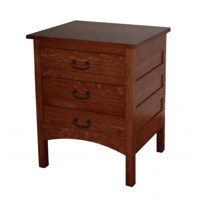 Granny-Mission-3-Drawer-Nightstand-GN2203