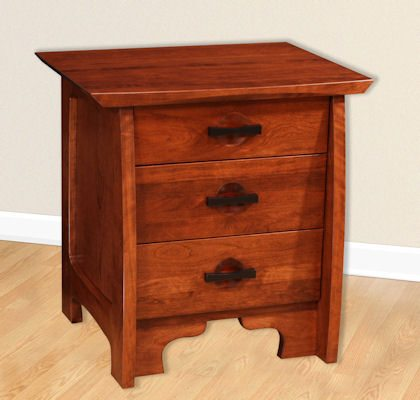 Great River Bedroom Collection Three Drawer Nightstand