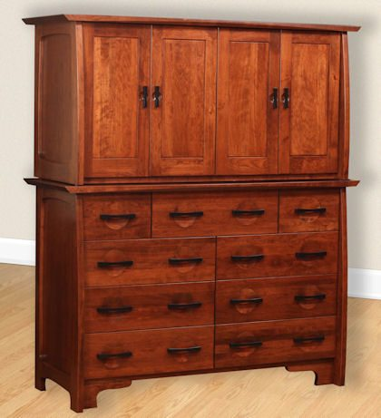 Great River Bedroom Collection Armoire Mule Chest