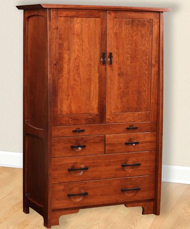 Great River Bedroom Collection Tray Armoire