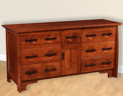Great River Bedroom Collection Triple Dresser