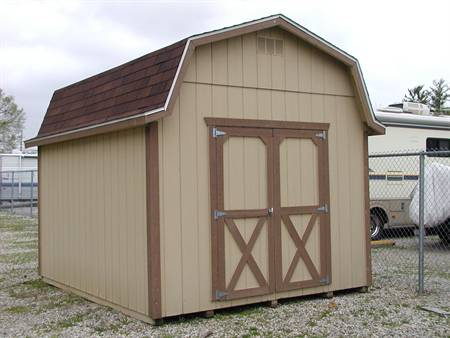 10X12 Gambrel Barn with 6′ side wall