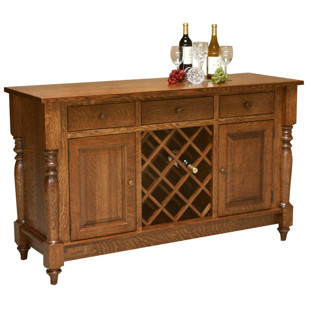 140 Harvest Buffet with Wine Rack