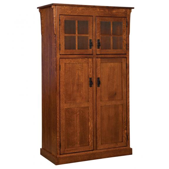 Hhp142 Heritage Mission 4 Door Pantry Cabinet