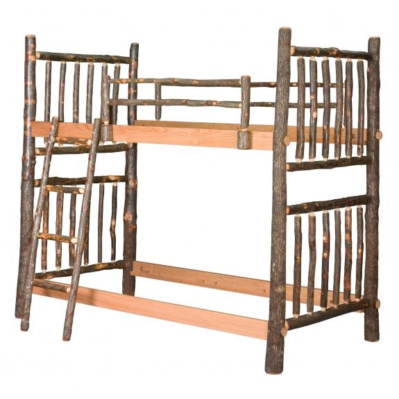 640 Twin Log Bunk Bed