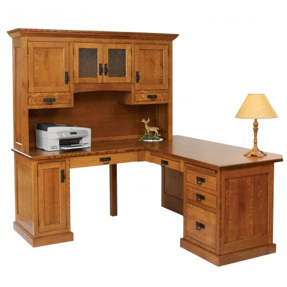 "HOM-202 Homestead 66"" Corner Desk with Hutch"