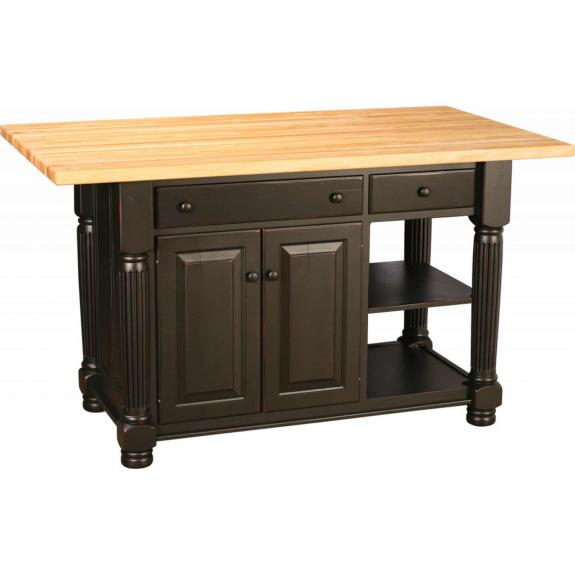 IS-69R Black Kitchen Island