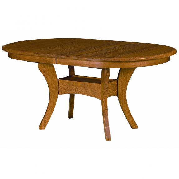 Imperial Double Pedestal Table Clear Creek Amish