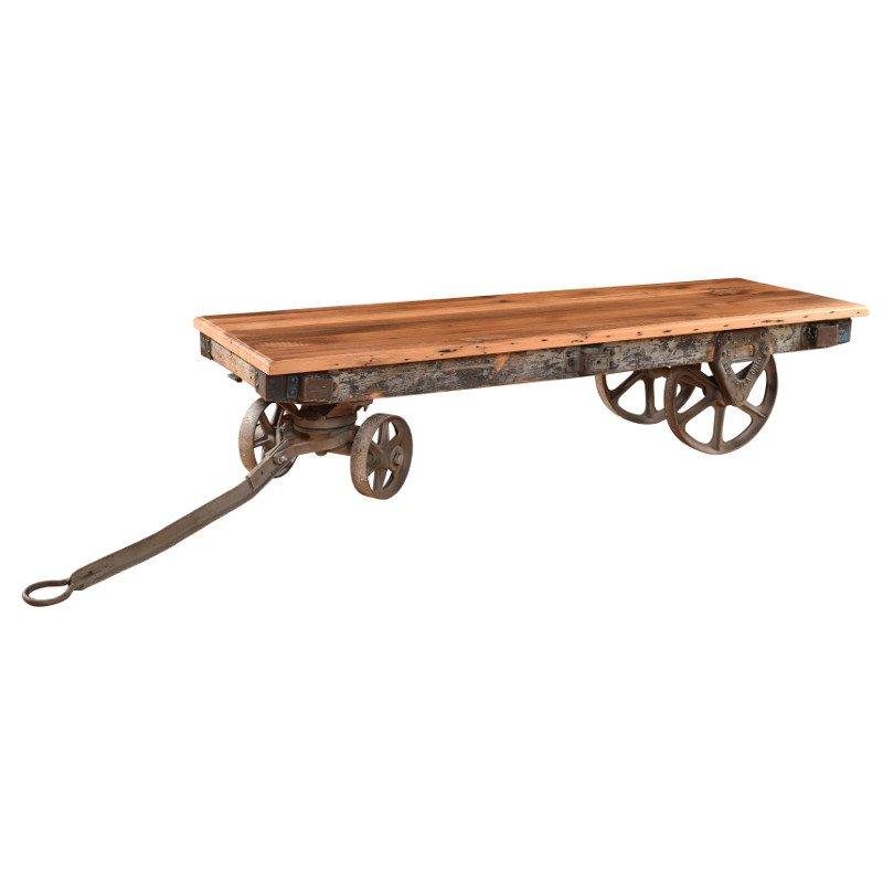 Railroad Cart Coffee Tables Reclaimed Railroad Cart