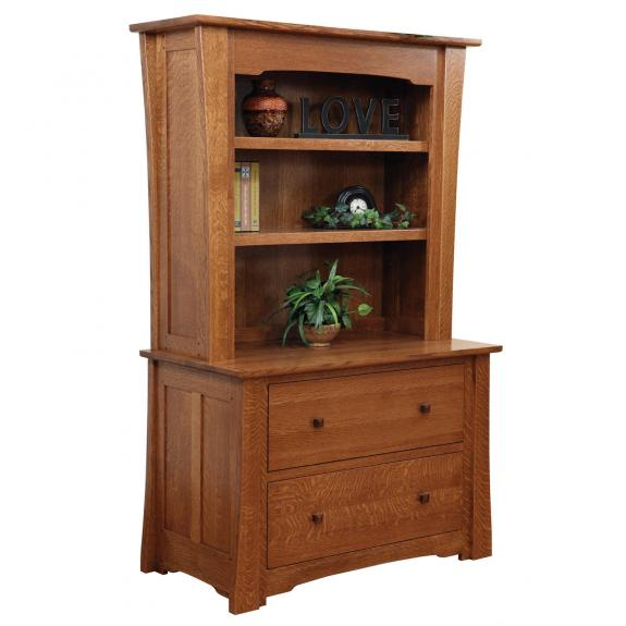 JAM-804 Jamestown Lateral File Cabinet with Bookshelves