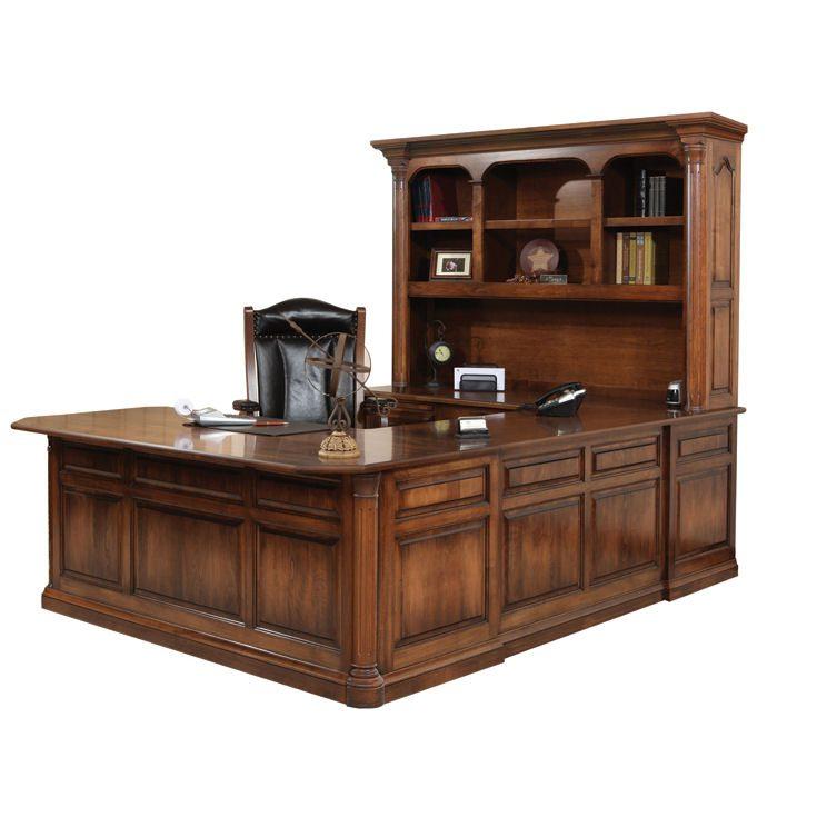 JEF-622 Jefferson U-Shape Desk and Hutch