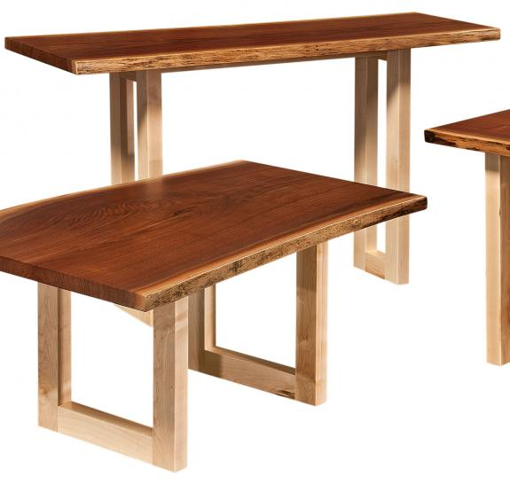 Kalispel Live Edge Coffee and End Tables Sofa Table