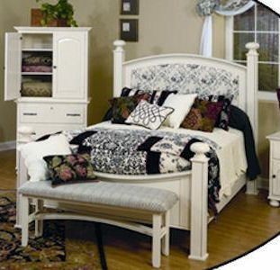 LE White Bedroom Set LE-1452Q White Bed