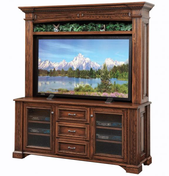 LIN-554-30/562 Lincoln Flat Screen TV Stand with hutch
