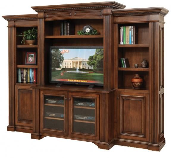 LIN-555 Lincoln Entertainment with Side Bookcases