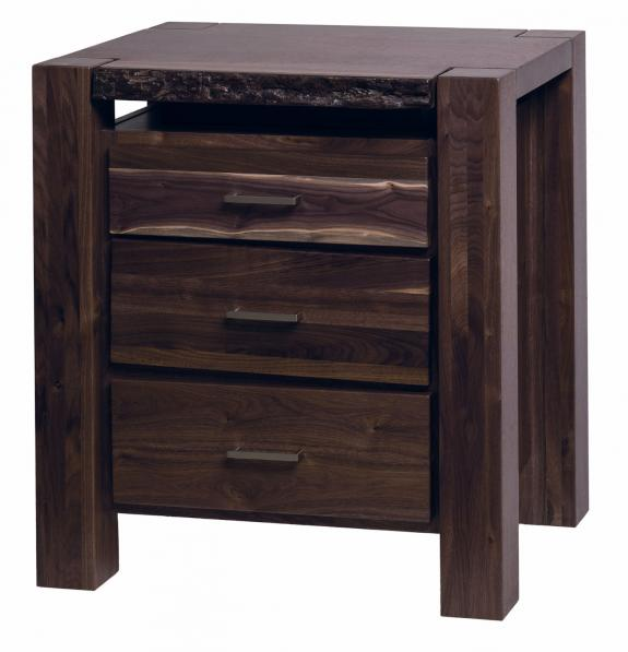 Live Edge Bedroom Set 3 Drawer Night Stand