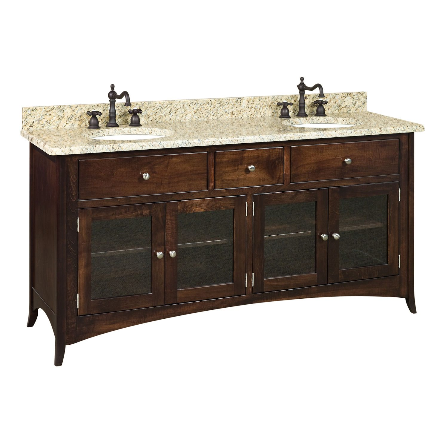 bathroom vanity sink oak columbia double pin solid white cabinet finish surface latte