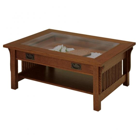 Landmark Occasional Tables Glass Top Coffee Table
