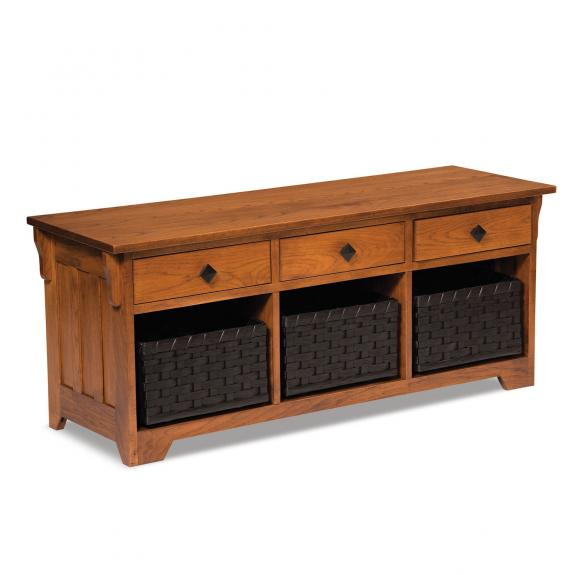 AJW2LWD Lattice Weave Drawer Storage Benches