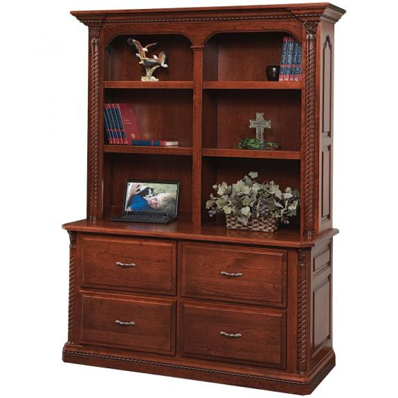 LEX-309 Lexington Double Lateral File with Hutch