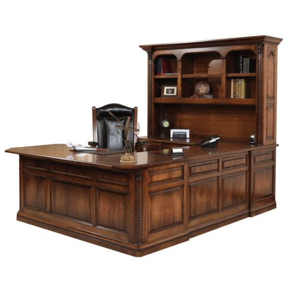 LEX-322 Lexington U-Shaped Desk with Hutch