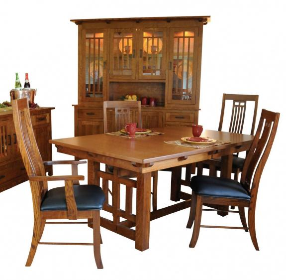 41 Lincolnton Dining Collection Mission Trestle Table
