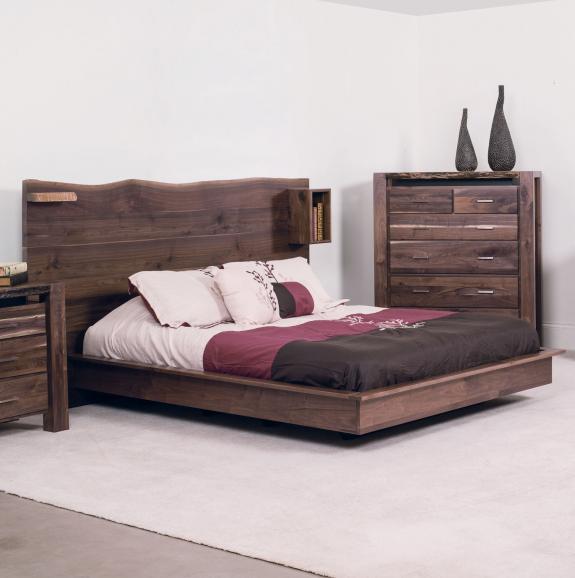 Live Edge Bedroom Set King Size Bed