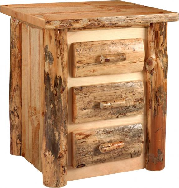 Lodge Pole Pine Set 3 Darwer Nightstand