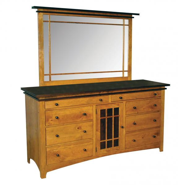 Maple Creek Bedroom Set Triple Dresser with Tray