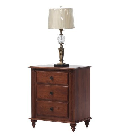 Fur Elise Bedroom Collection 3 Drawer Nightstand